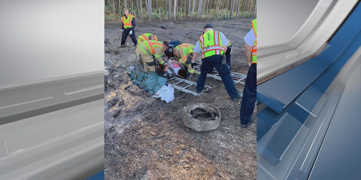 Man rescued after being stuck in the mud off I-95