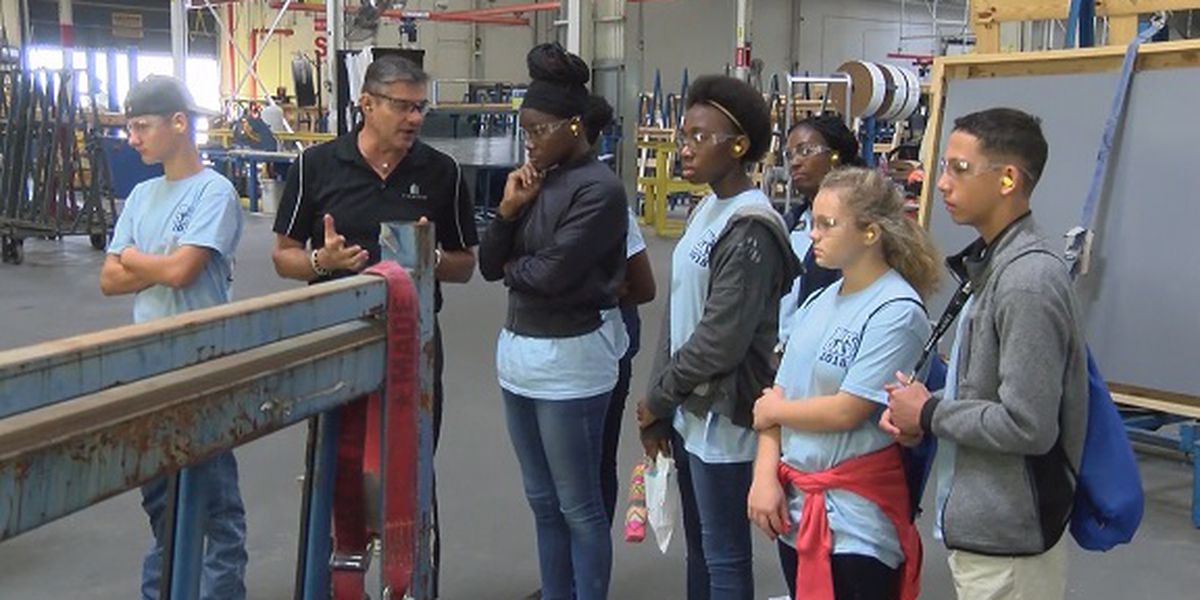 Bulloch County students tour manufacturing plant