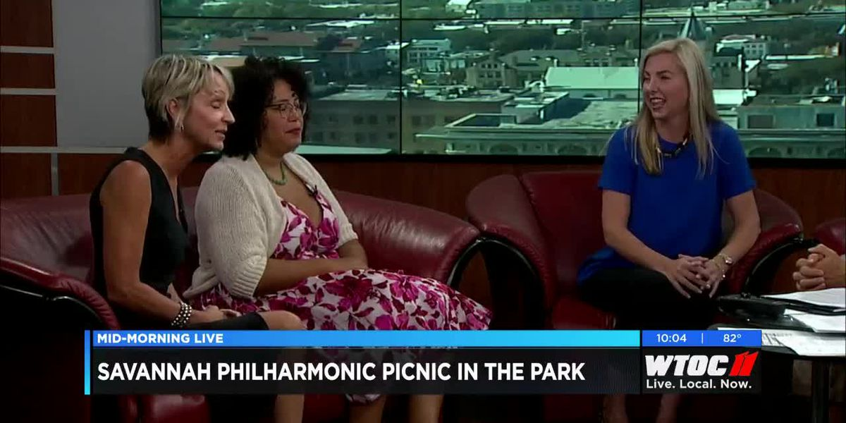 Terri O'Neil, Frances Colon, and Katherine Poss of Savannah philharmonic discuss Oct. 6 music party