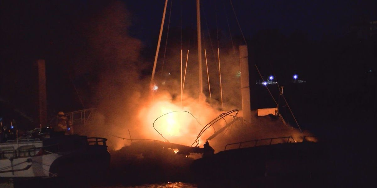 Boat owner reacts to fire at Lee Shores Marina that destroyed 2 boats