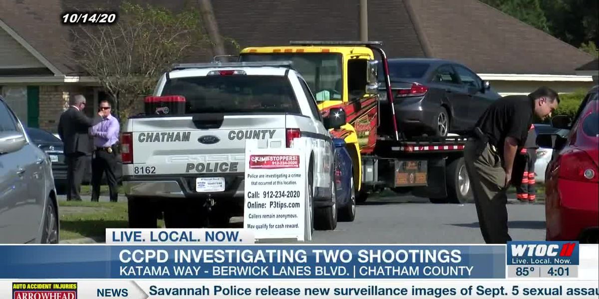 Chatham Co. Police Department says two Wednesday shootings are connected
