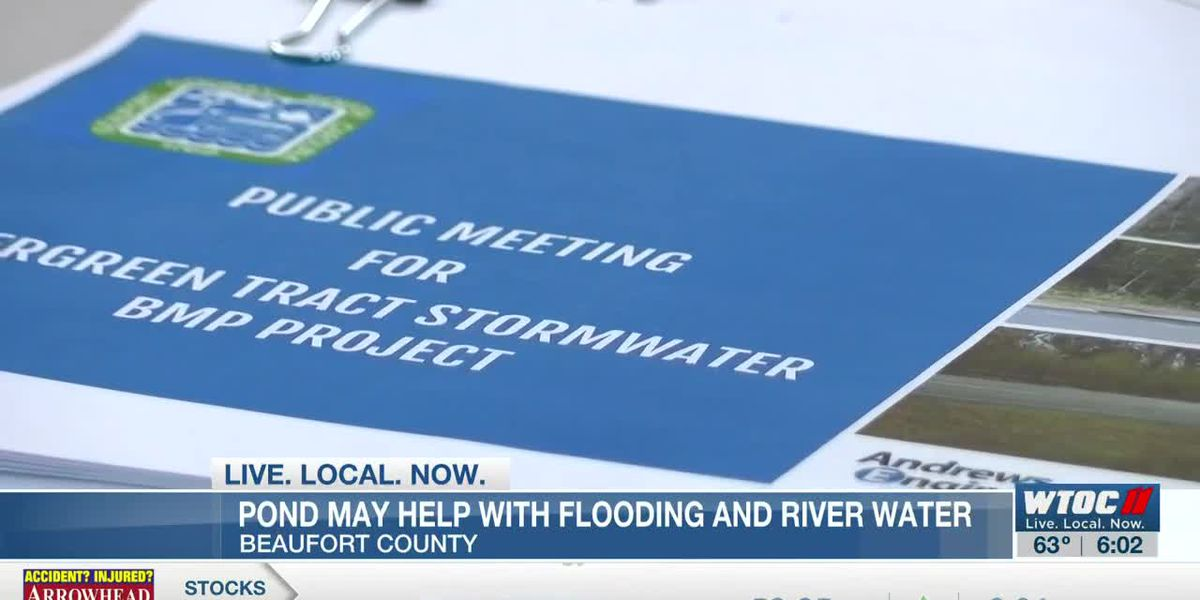 Pond may help with flooding and river water in Beaufort County