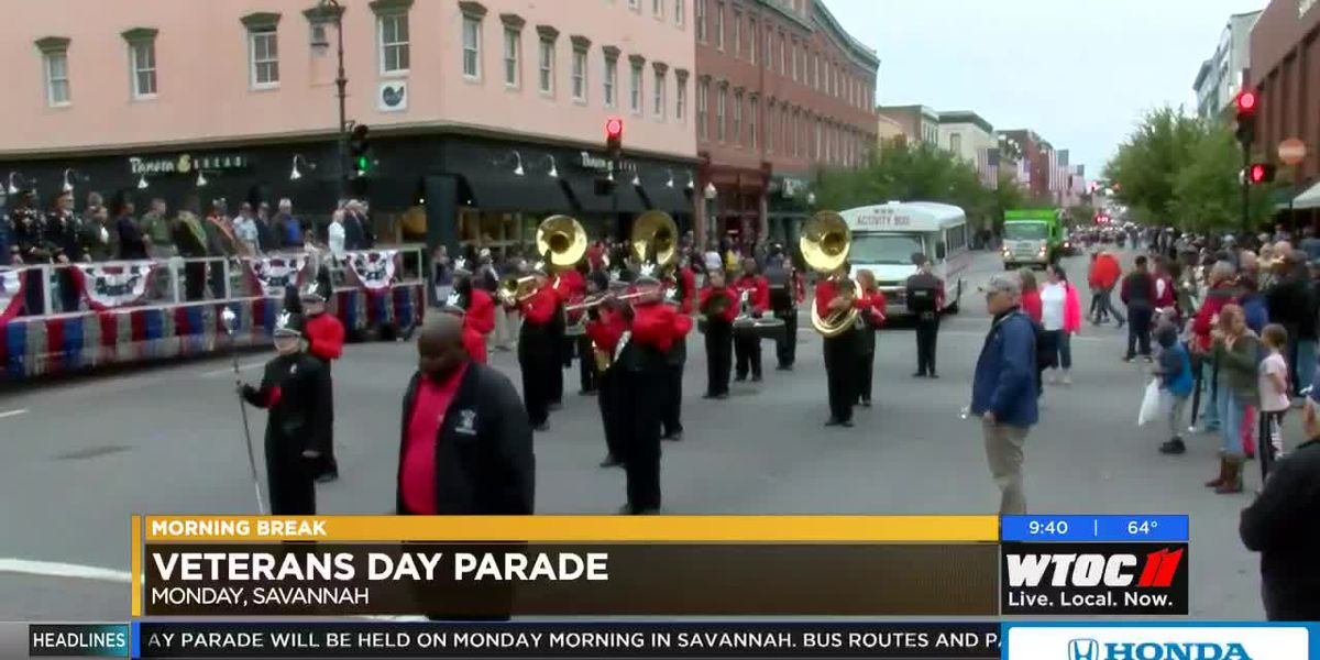 Preparations underway for the Veterans Day Parade in Savannah