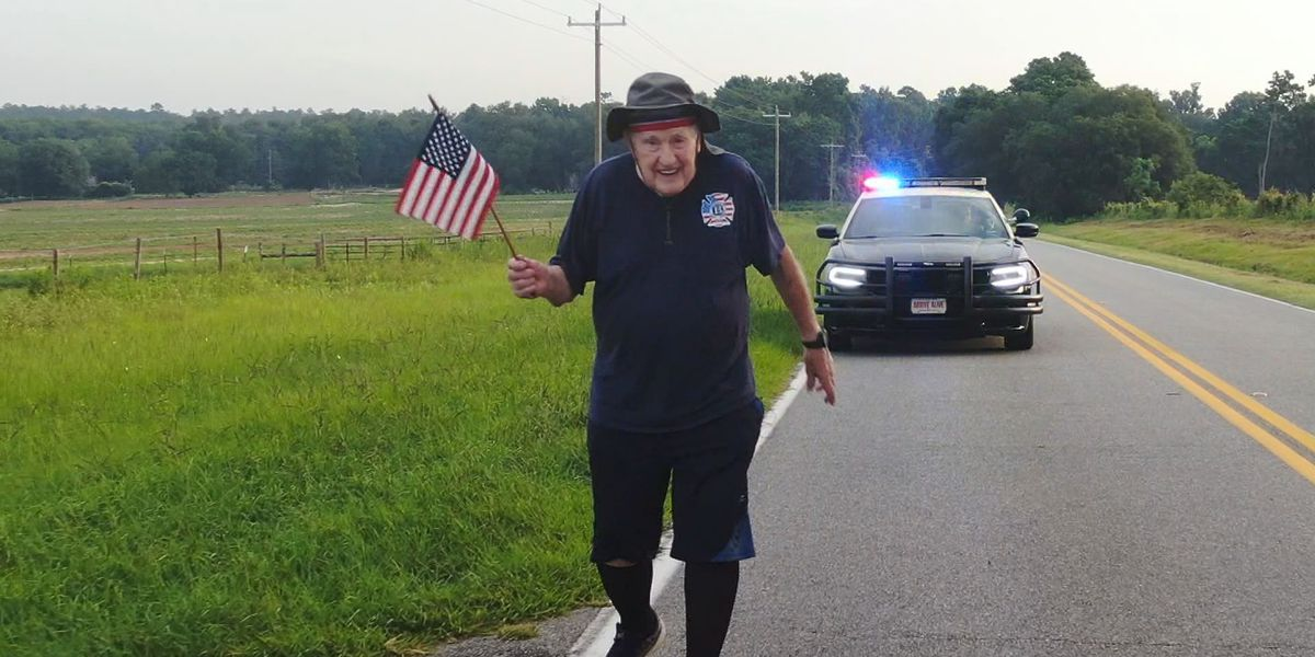 97-year-old veteran halts walk across America due to foot infection
