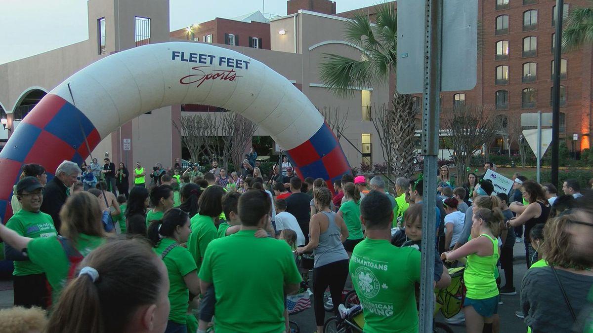 26th Annual Shamrock Run held in Downtown Savannah