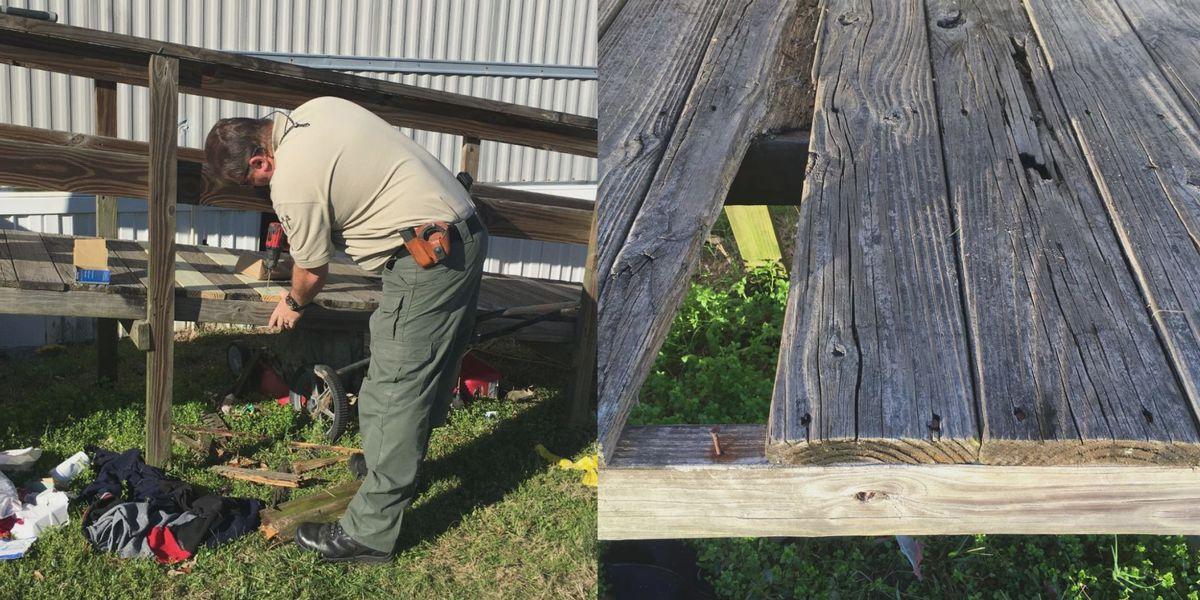 Toombs County deputies repair wheelchair ramp for elderly woman