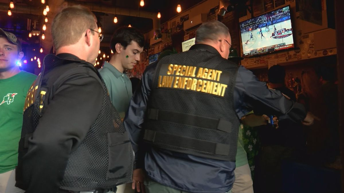 Law enforcement out in droves for night two of St. Patrick's Day festivities