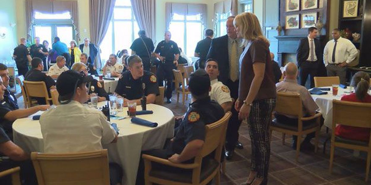 Luncheon at Savannah Quarters to thank first responders
