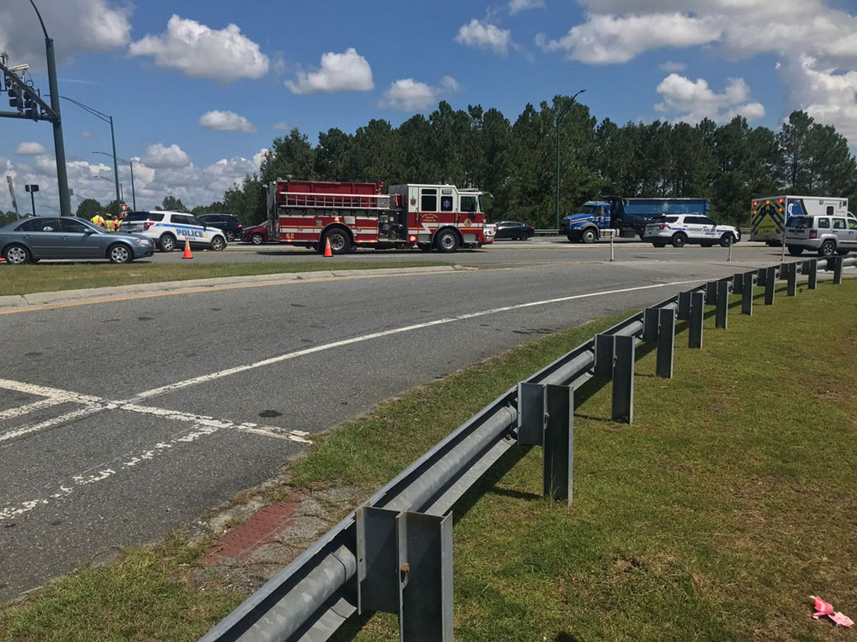 Law enforcement investigating incident on Airways Avenue at I-95 intersection