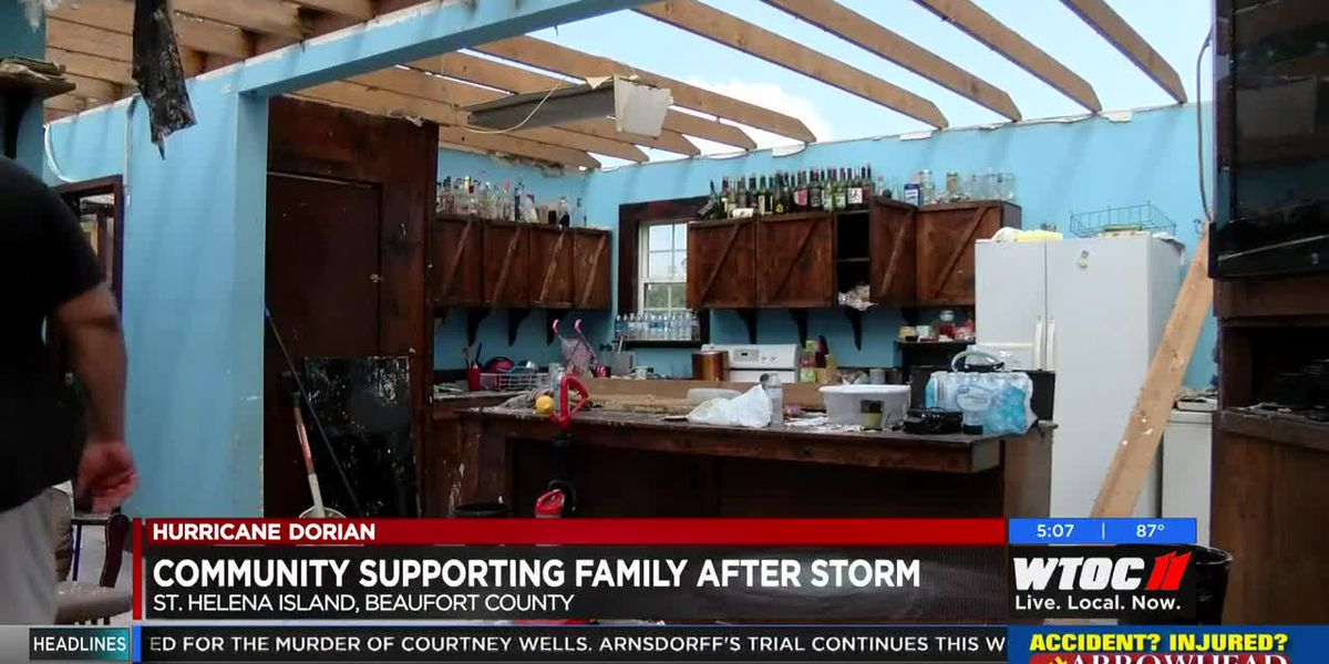 Community supporting St. Helena family in Hurricane Dorian aftermath