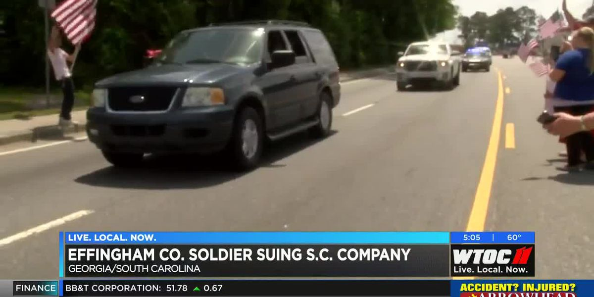 Effingham County soldier suing SC company