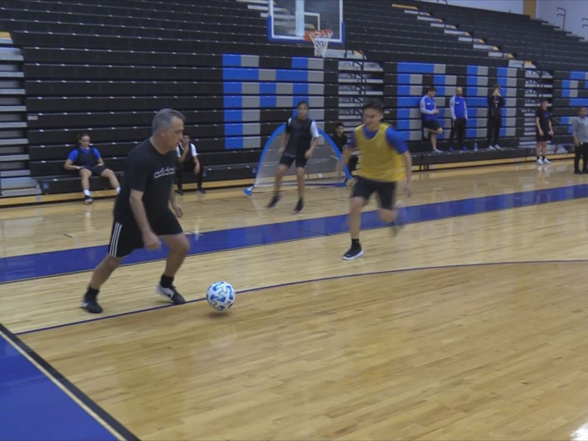 Beaufort Co. superintendent dusts off boots for kickaround with May River High School