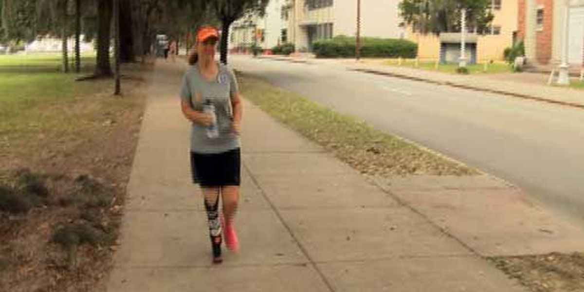 Woman with prosthetic leg to run Rock 'n' Roll Marathon