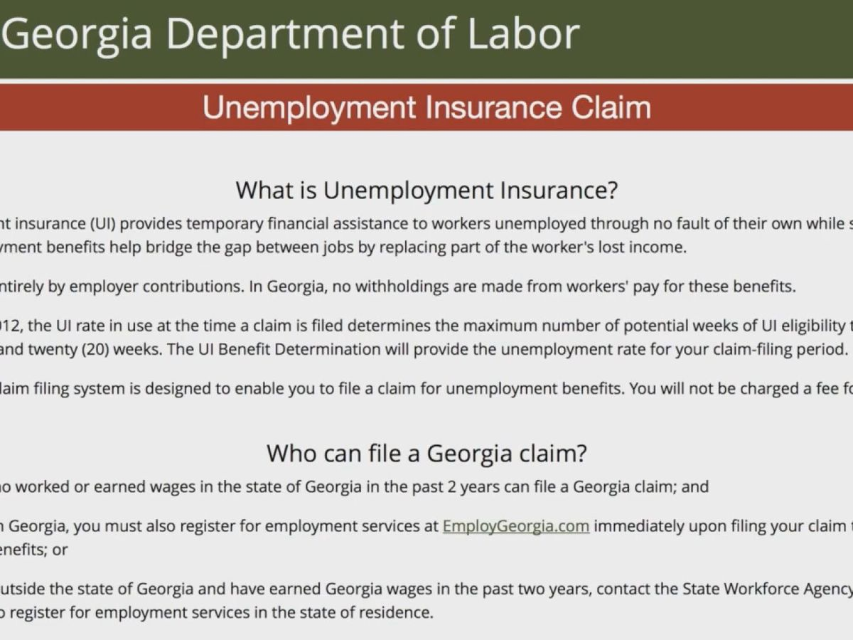 Unemployment concerns as workers look for answers from Ga. Department of Labor