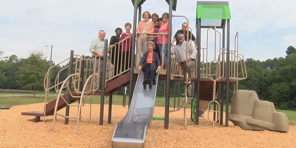 Ribbon cutting for new playground at Joseph Tribble Park