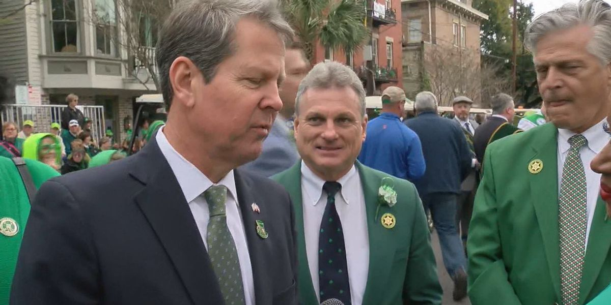 Georgia governor attends pre-parade mass at Cathedral of St. John the Baptist