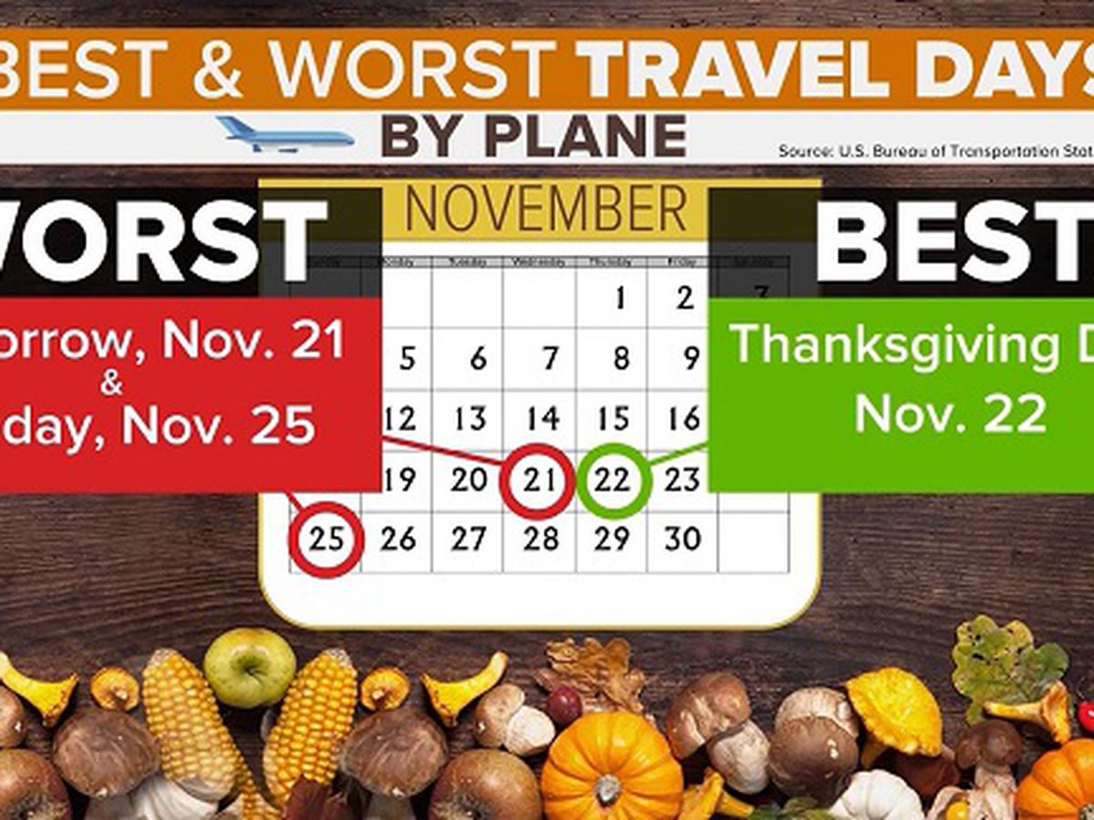 Check flight times in advance over Thanksgiving holiday