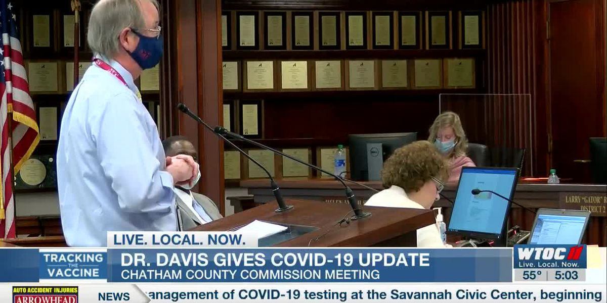 Coastal Health District gives update on COVID-19 to Chatham Co. Commission