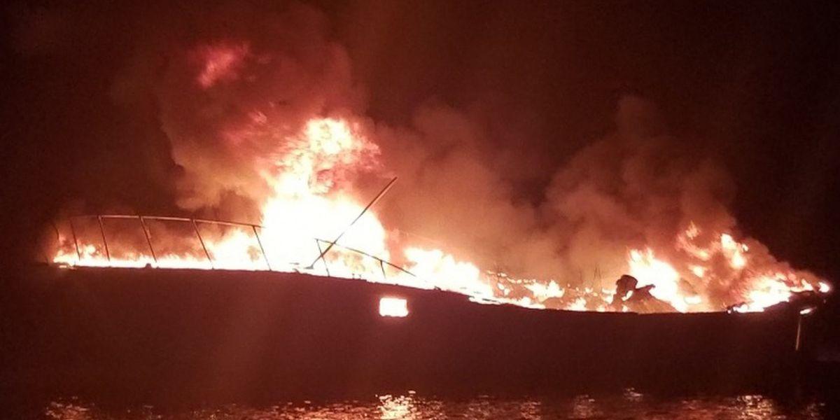Coast Guard rescued 3 people from burning boat off Alabama coast