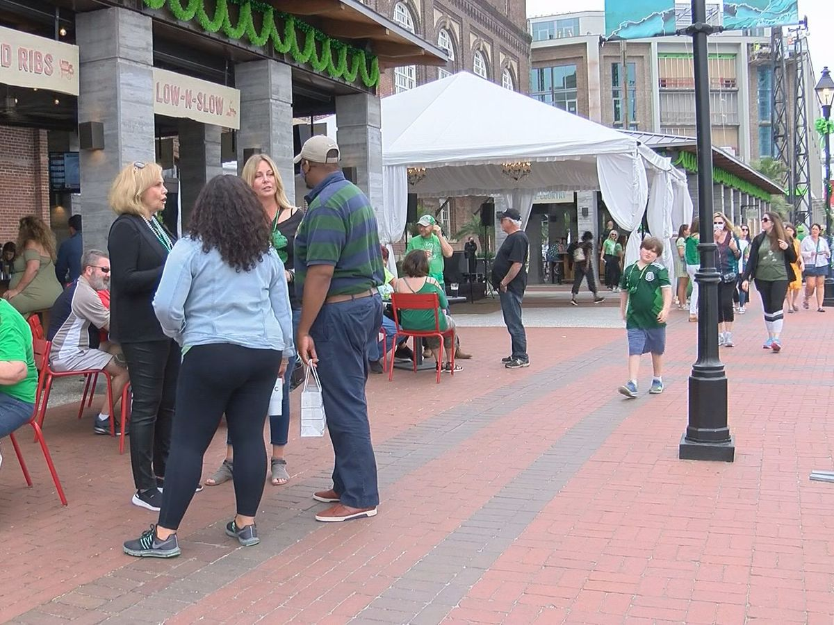 Crowds move to Plant Riverside to celebrate St. Patrick's Day