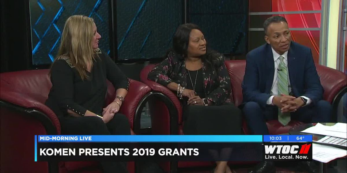 Albert Grandy, Carolyn Eiland, and Julie Schwartz talk about $250,000 raised for breast cancer.