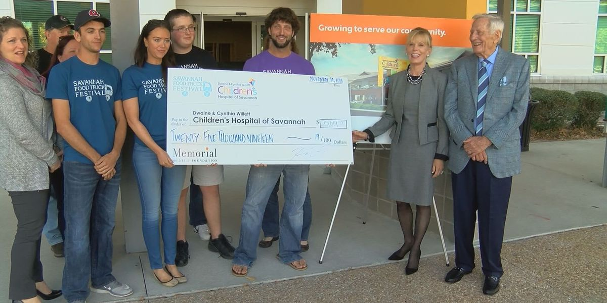 Money raised from Food Truck Festival donated to Children's Hospital of Savannah