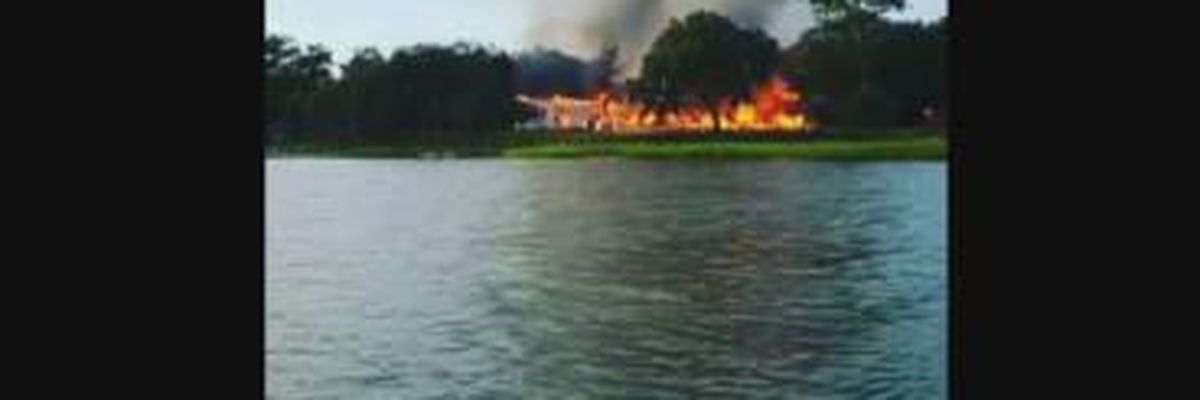 VIDEO: Historic Lowcountry home goes up in flames