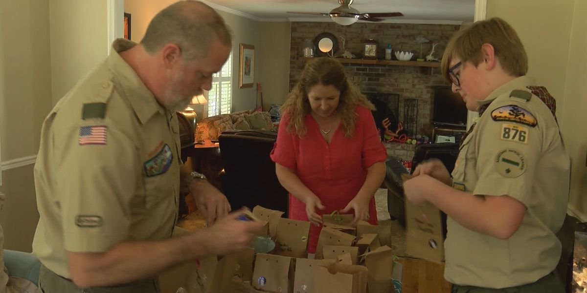 Boy Scouts work on merit badge project to benefit community