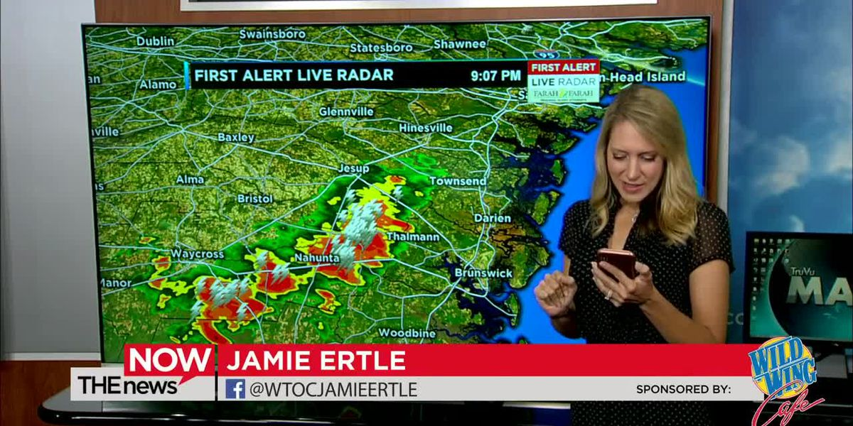 Jamie Ertle is tracking a strong storm moving over Jesup and towards the coast. Tune in to The News Now for the latest.