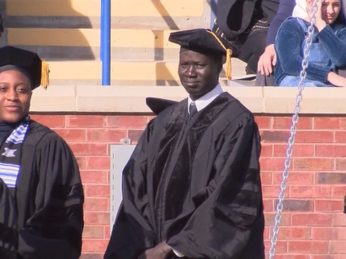 Sudanese refugee receives doctorate from Georgia Southern