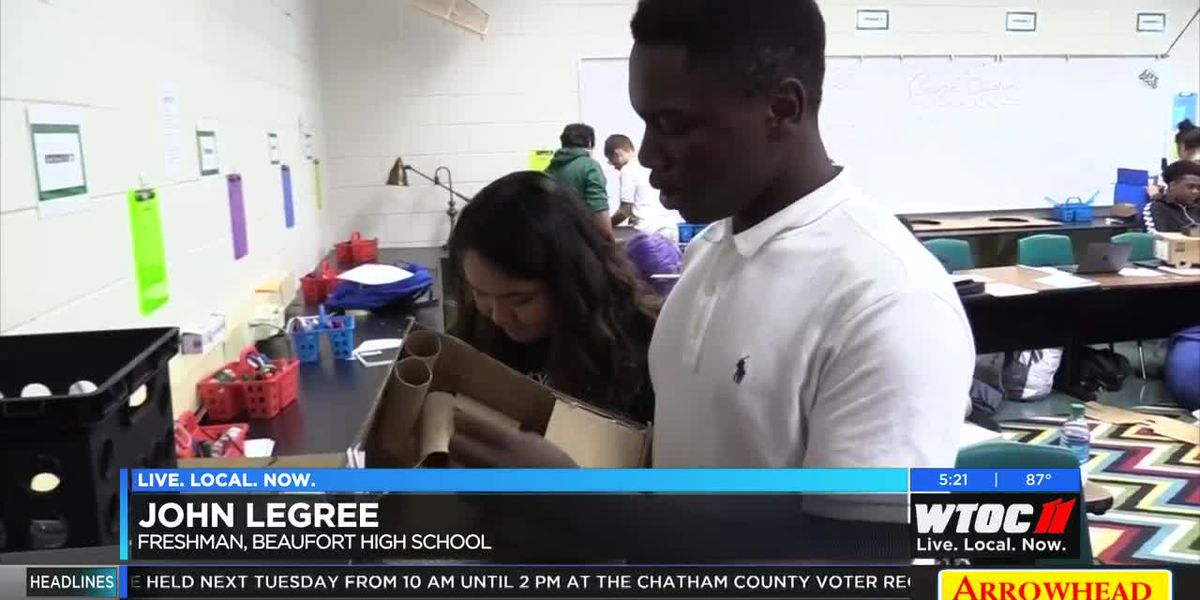Beaufort High School students take enterprise design class