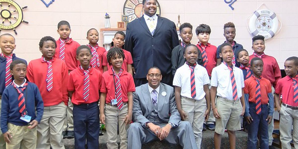 Lyman Hall Elementary students participate in 'Guys with Ties'