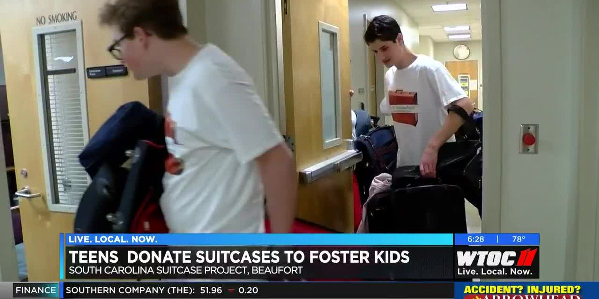 Beaufort County teens donate suitcases to foster kids