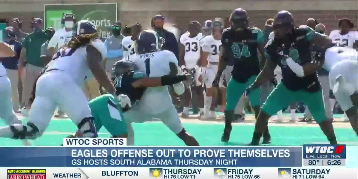 Eagles offense out to prove themselves during game against Alabama