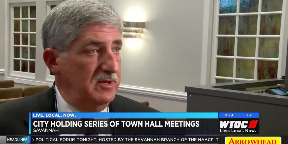 City of Savannah holding series of town hall meetings