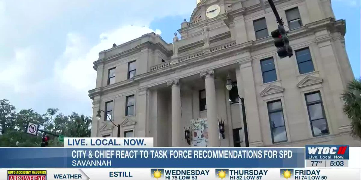 Community task force submits recommendations to Savannah Police Department