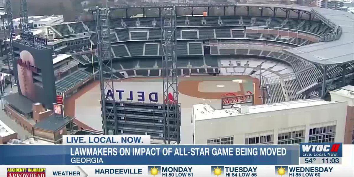 Local representatives react to the MLB's decision to move the 2021 All-Star game from Atlanta