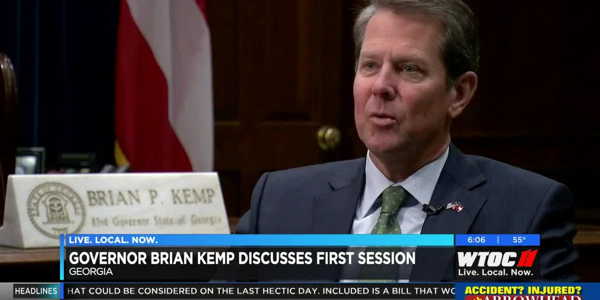 Gov. Kemp discusses first session