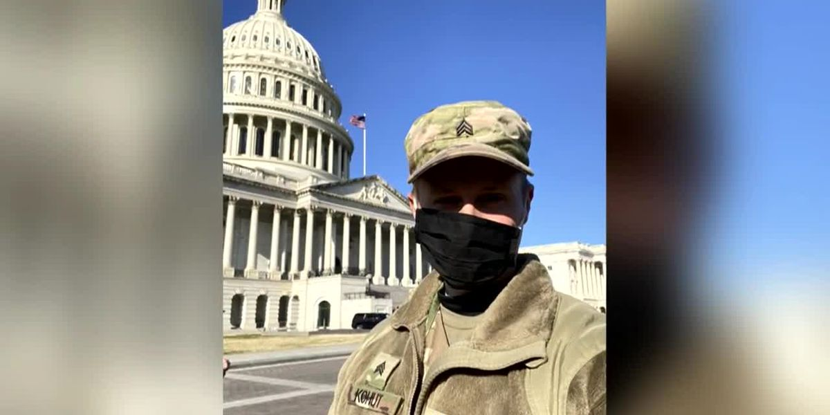 Va. teacher pulls double duty as part of National Guard called to Capitol