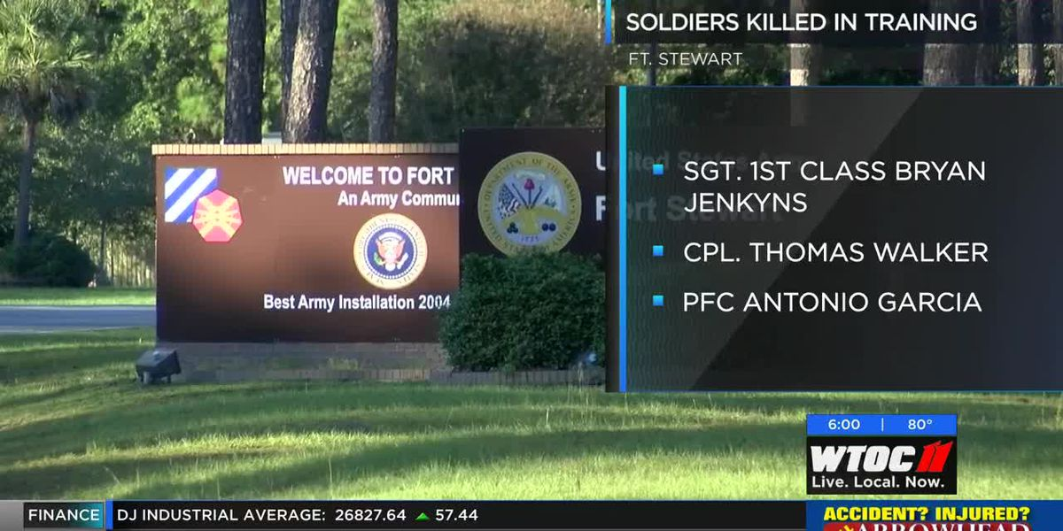 3 soldiers killed, 3 injured in training incident at Fort Stewart