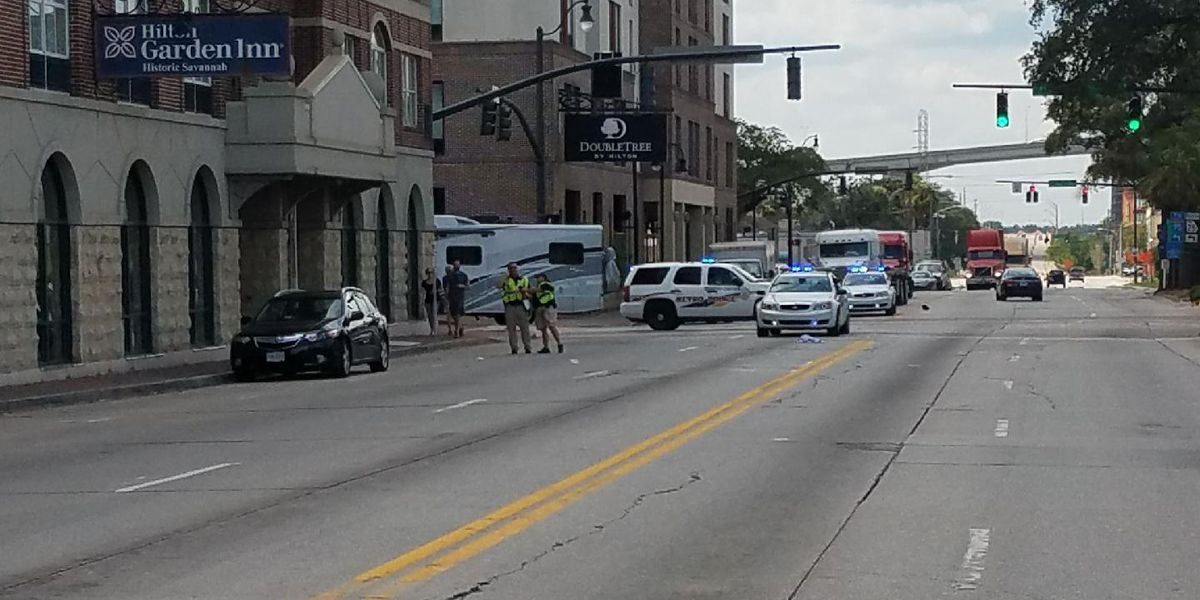 West Bay Street closed between Montgomery, Jefferson due to wreck involving a pedestrian