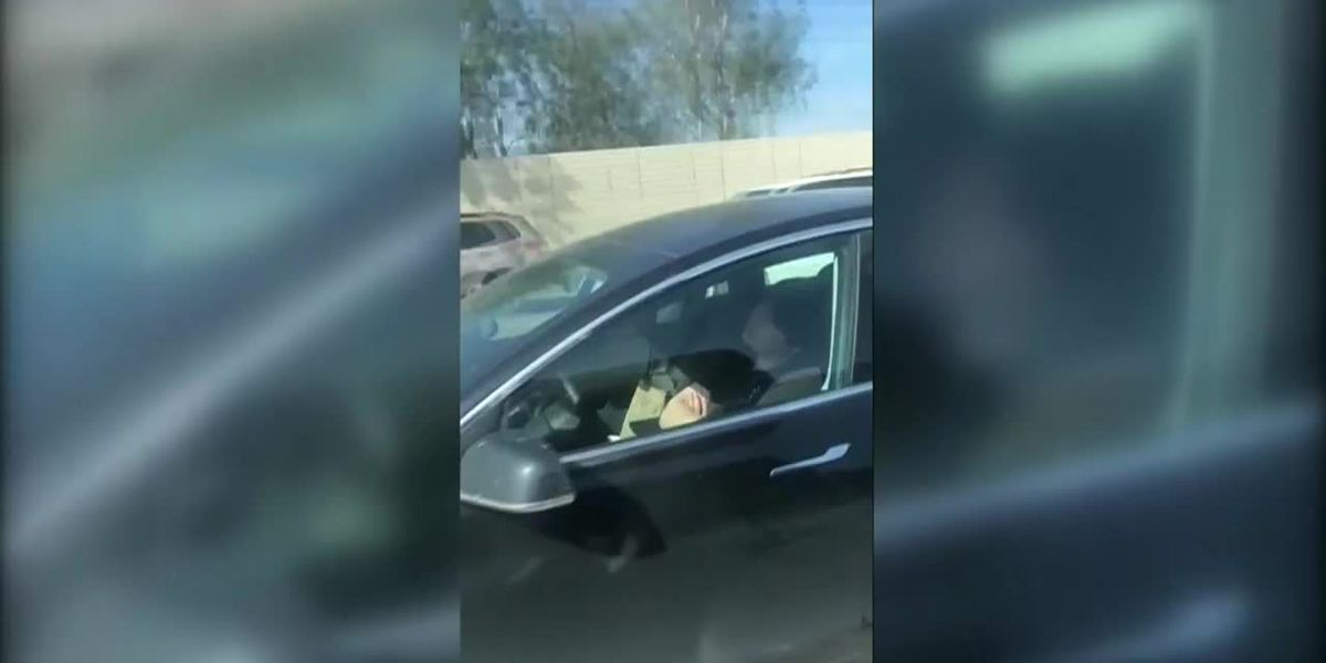 Asleep at the wheel: Tesla driver naps while driving in Southern California