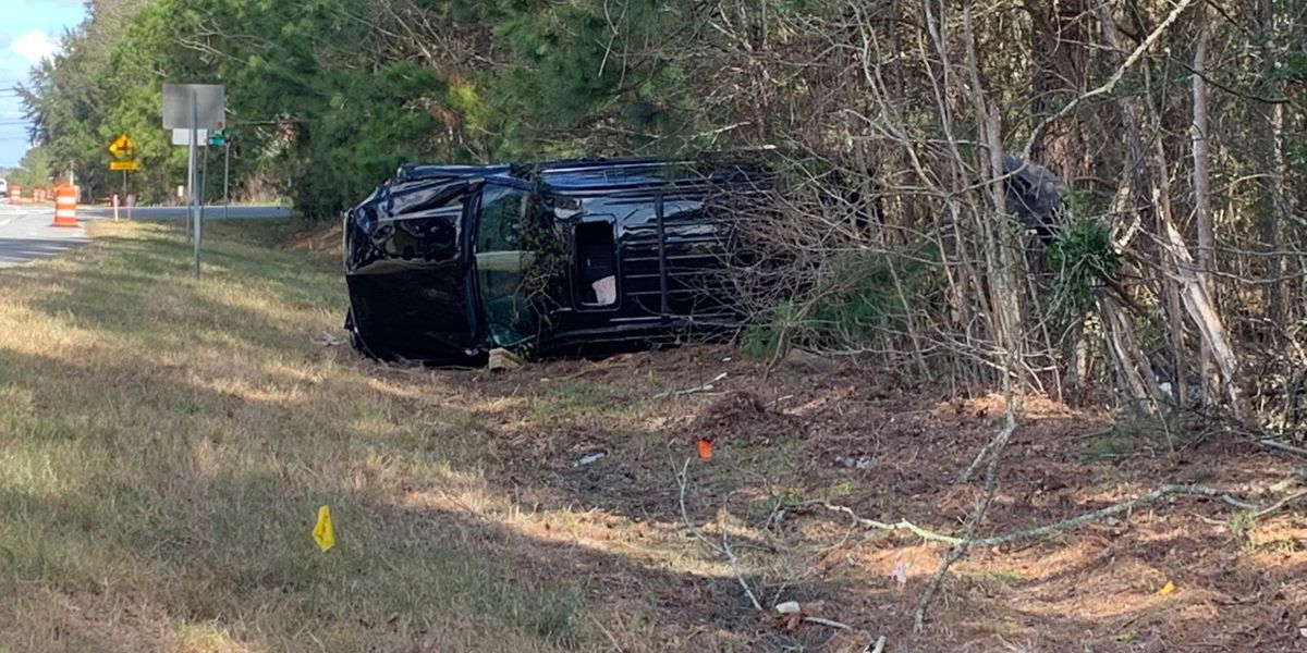 Roads remain open after single-vehicle accident