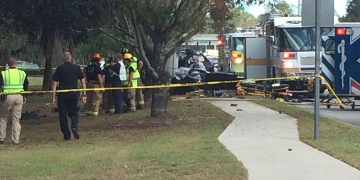 Fatal crash knocks out power on Montgomery Cross Road between Sallie Mood, Truman
