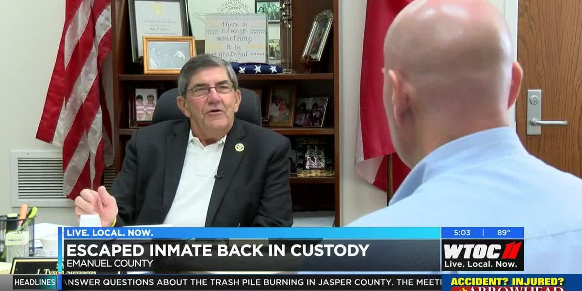 Escaped inmate back in custody in Emanuel County
