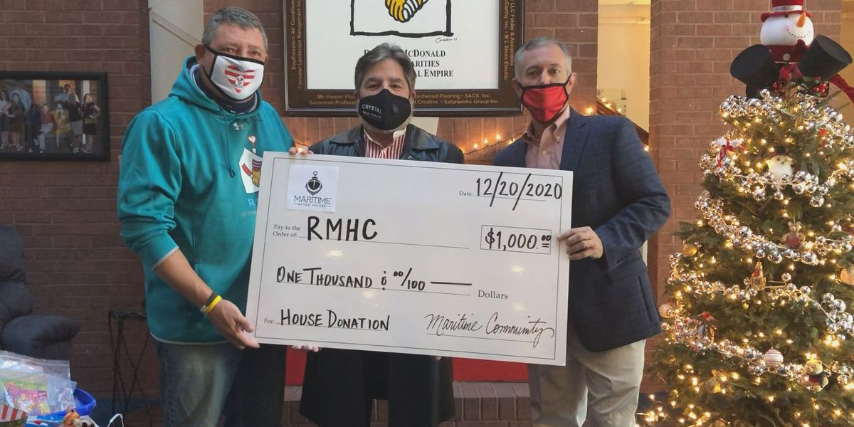 Donation made to the Ronald McDonald House of the Coastal Empire