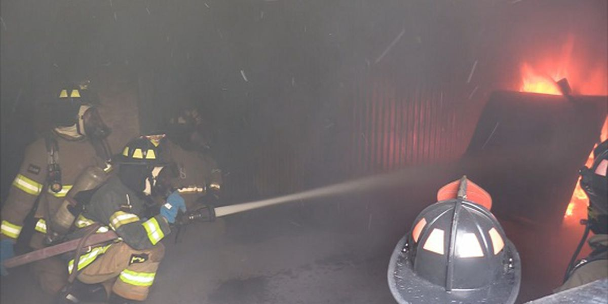 Bluffton High students participate in firefighter program