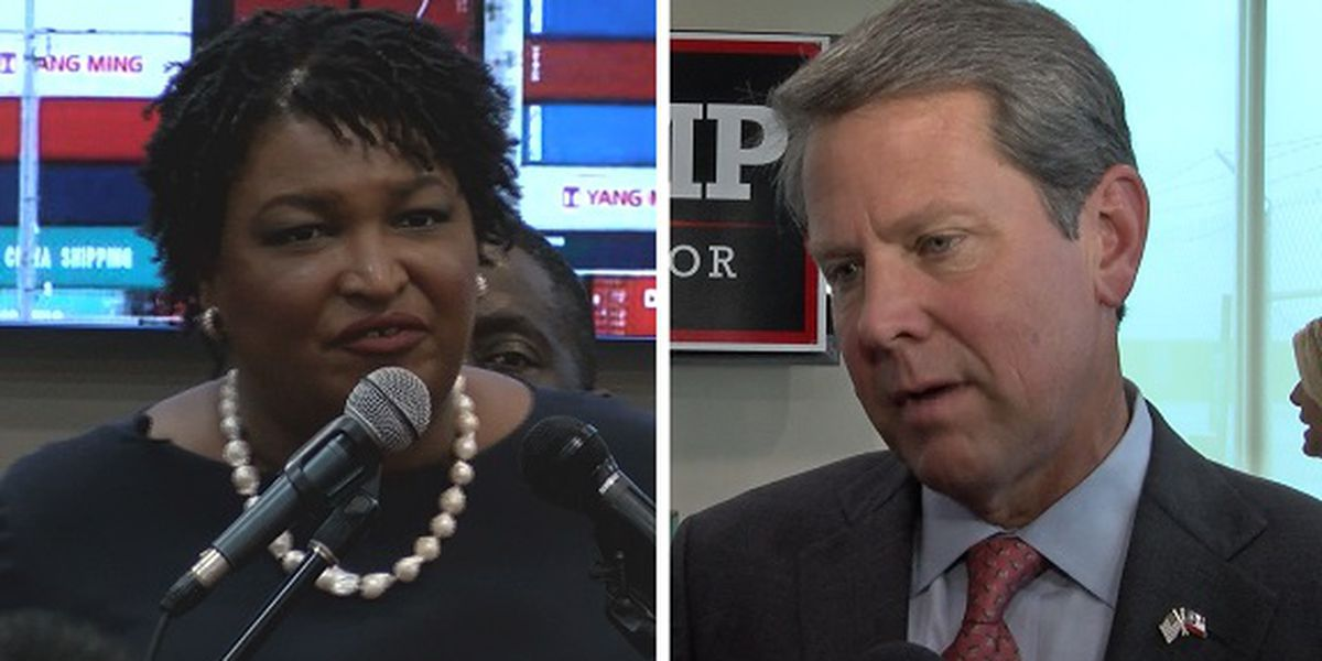 Stacey Abrams and Brian Kemp make last stops in Savannah