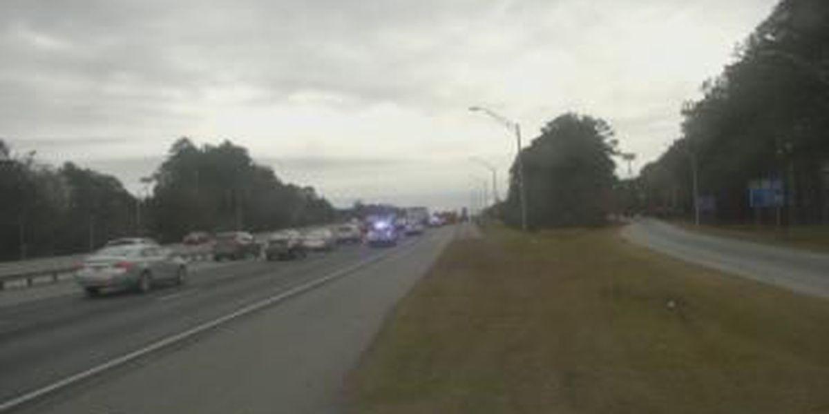 Two taken to hospital after 18-wheeler, passenger vehicle wreck on I-95 in Pooler