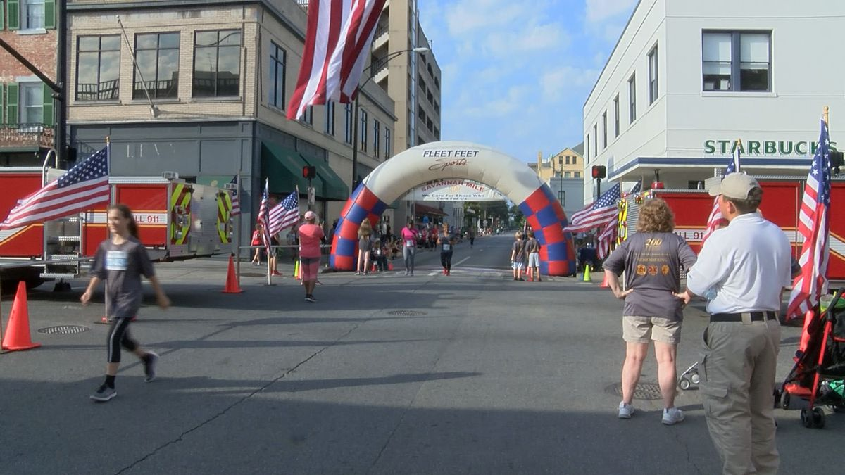 Hundreds run Savannah Mile to honor fallen heroes